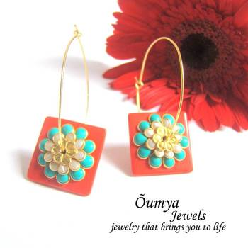 Square paachi earrings