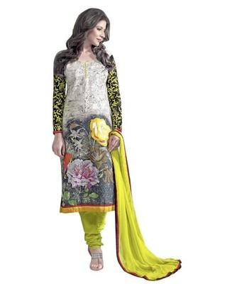 Triveni Beautiful Floral Printed Cotton Salwar Suit TSAYSPVSK14001a