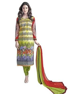 Triveni Elegant Foliage Patterned Salwar Kameez TSAYSPVSK14006b