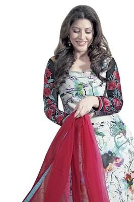 Triveni Delightful Sleeve Embroidered Salwar Kameez TSAYSPVSK14009b