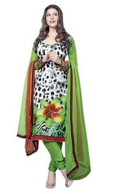 Triveni Pleasing Floral Print Cotton Salwar Kameez TSAYSPVSK14011b