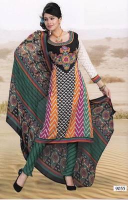 Elegant Crepe Dress Material Unstitched Salwar Suit D.No AM9055
