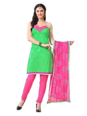 Triveni Pleasing Paisely Embroidered Cotton Salwar Suit TSRCPKSK04
