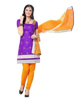 Triveni Charming Floral Embroidery Cotton Salwar Suit TSRCPKSK06