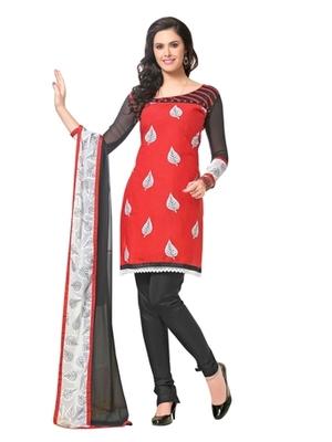 Triveni Striking Leaf Embroidered Cotton Salwar Kameez TSRCPKSK10
