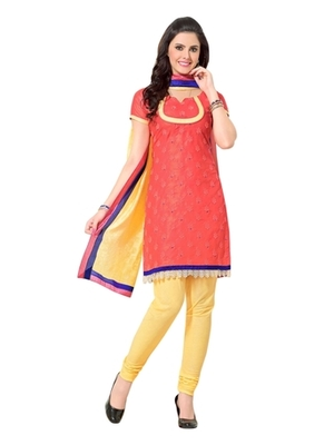 Triveni Elegant Floral Embroidered Cotton Salwar Suit TSRCPKSK12