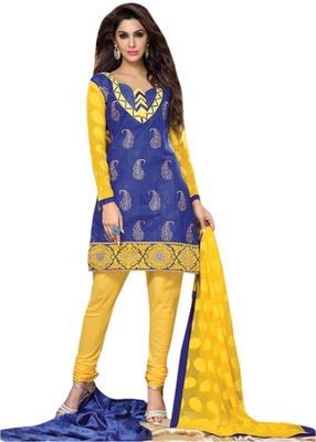 Triveni Smart Paisely Embroidery Chanderi Salwar Kameez TSRCPD4SK03