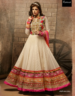 Party Wear Designer Floor Touching Anarkali salwar kameez