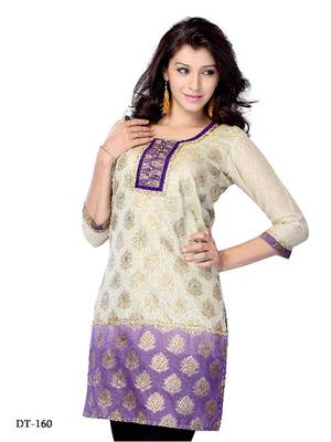 Designer party wear kurti made from jacquard