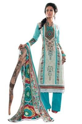 Triveni Trendy Floral Printed Cotton Salwar Kameez TSXITSK7605