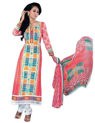 Triveni Amusing Floral Printed Cotton Salwar Kameez TSXITSK7614