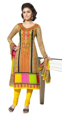 Triveni Admirable Applique Work Cotton Salwar Kameez TSXBZSK7345B