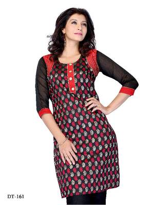 Designer Kurti made from Georgette by DIVA FASHION-Surat