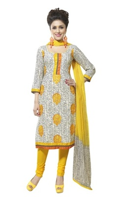 Triveni Divine Vine Printed Cotton Salwar Kameez TSXBZSK7348A