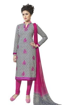 Triveni Astounding Floral Printed Cotton Salwar Suit TSXBZSK7348B