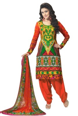 Triveni Elegant Abstract Print Cotton Salwar Kameez TSXBZSK7349B