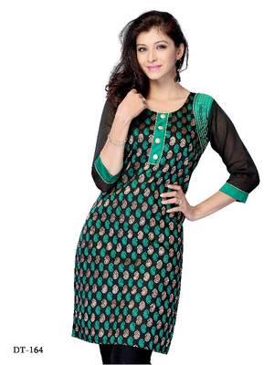 Designer Kurti made from Georgette by DIVA FASHION-Surat