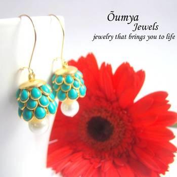 Blue Paachi earrings