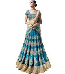 Buy Sky Blue Banglori Traditional Wear Lehenga Choli ghagra-choli online