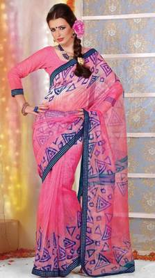 Supernet Printed Lacer Saree SC1120