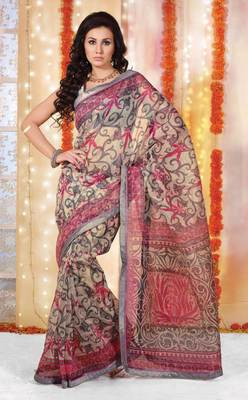 Supernet Printed Lacer Saree SC1135
