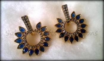 Sapphire Sprinkled Earring