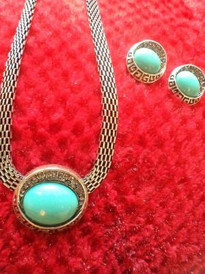 Turquoise Necklace Set-110164