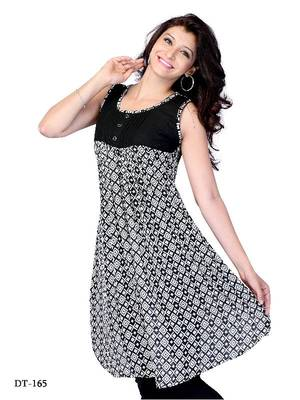 Black Color  Georgette printed Kurti