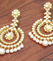 Buy Celebrity royal collection kundan pearl chand bali earring jhumka online