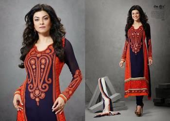 Sushmita D no 404 Semi Stitched Anarkali