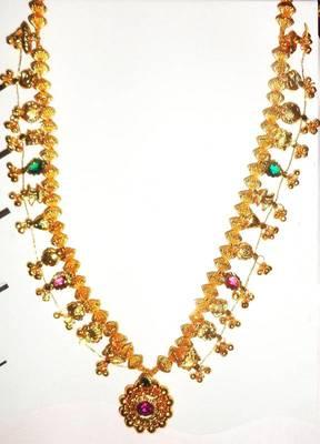 Kolhapuri Saaj Maharashtrian Traditional Necklace Long ,Ethnic