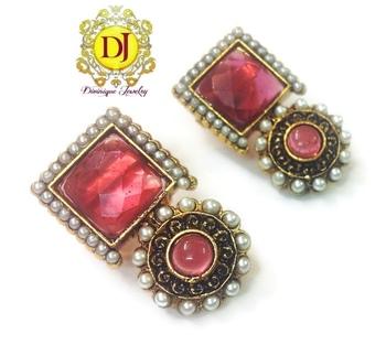 Onion Pink desire Earrings
