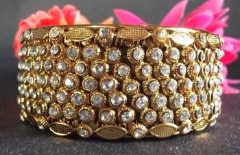 Golden Stone Kada Bangles