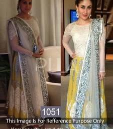 Buy Yellow Designer embroidered dress readymade-lehenga-cholis online