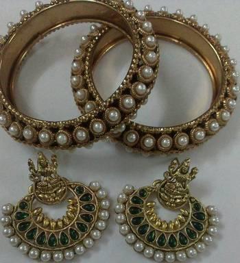 Designer Ram Leela Earings with Trb