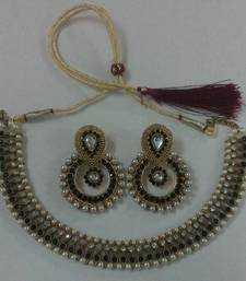 Buy Traditional Necklace set with Designer Earings necklace-set online