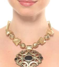 Buy Bold Golden Neckpiece Necklace online