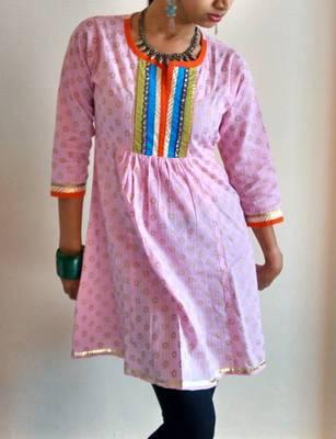 blush pink kurti