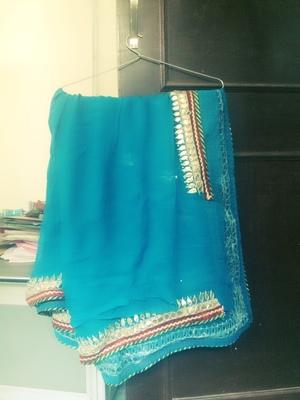 sea Green designer embroidered saree