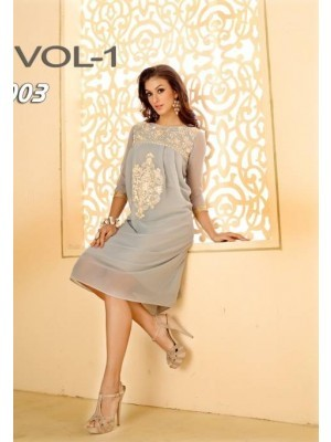 Grey Designer Georgette Dress