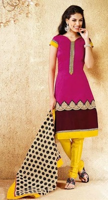 Awesome Straight Chanderi Suit