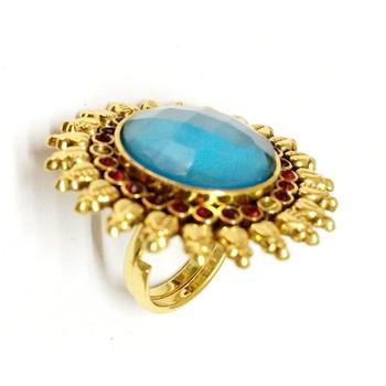 Craftstages Sunflower Brass Ring