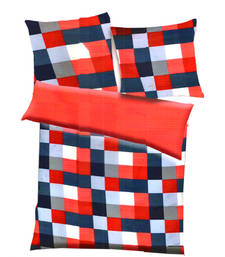 Buy Red, blue  and  white polyester checkered print single bed  ac quilt quilt online