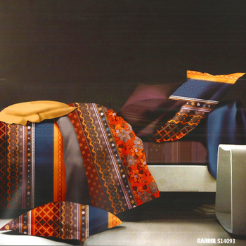 Multicolor Polyester Double Bedsheet With Contemporary Print