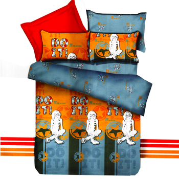 Mustard  And  Grey Polyester Double Bedsheet With Contemporary Digital Print