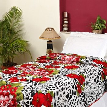 Leopard And Floral Print  Soft Poly Cotton Single Comforter