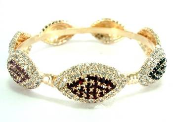 Party wear 1pc maroon green bangle l1659