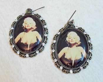 Vintage CZ Marilyn Monroe Dangle Earrings