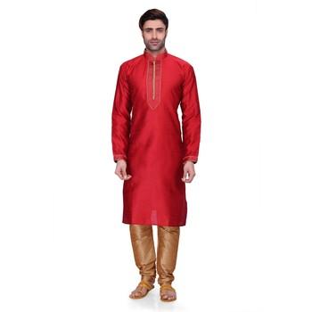 Red Men's Full Sleeve kurta pajama