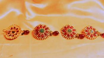 4 pc hair pins  in polki